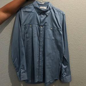 Men's blue Calvin Klein dress shirt